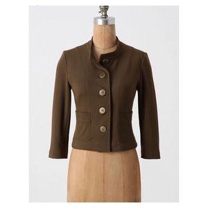 anthropologie cartonnier knit olive blazer medium